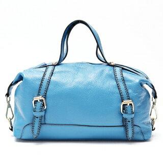 【Ve vitalise】前方條狀造型時尚大方包(水藍色)