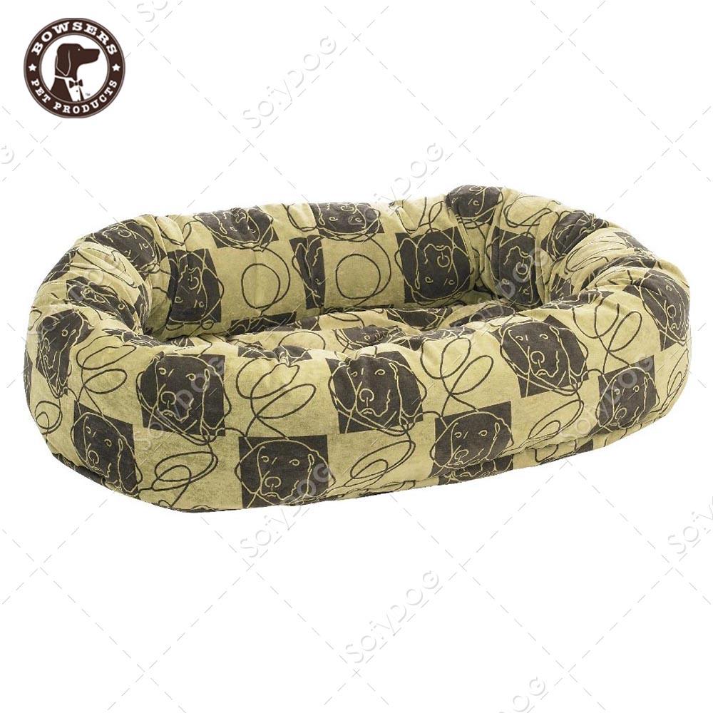 BOWSERS甜甜圈極適寵物床-塗鴉狗格紋-S