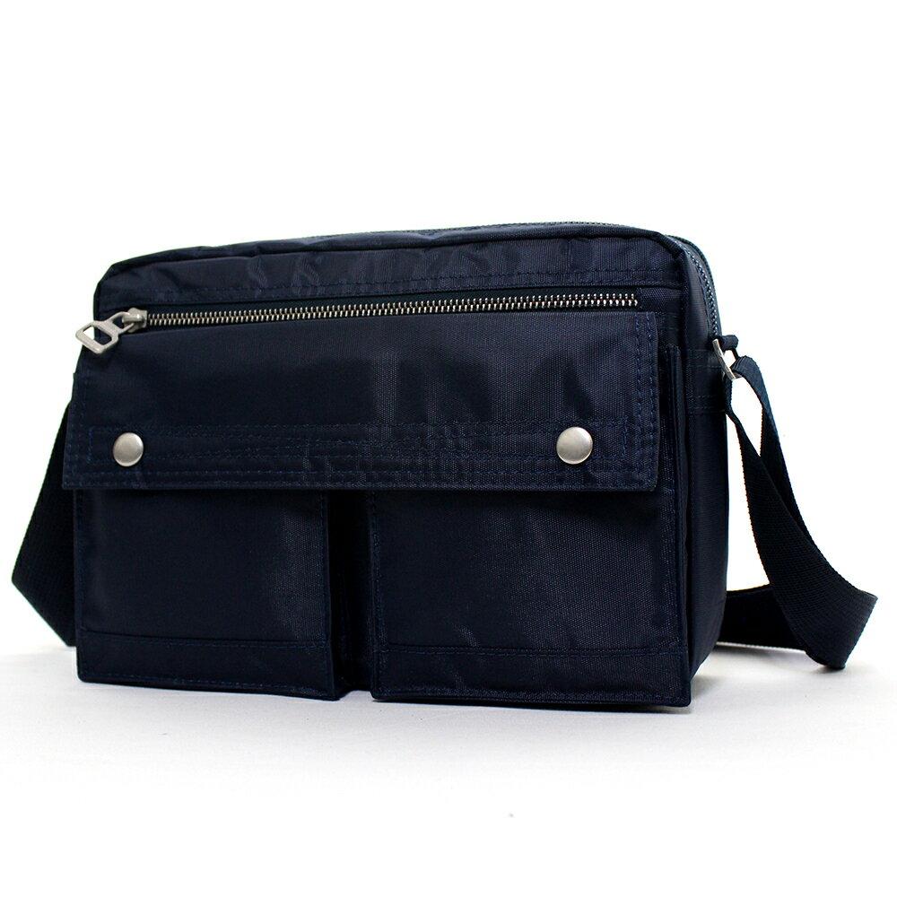 日系雙口袋雙層側背包 (休閒 斜背包 porter風 NEW STAR BL49 1