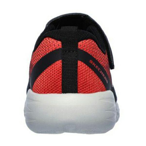Shoestw【97867LBKRD】SKECHERS GO RUN 600 中童鞋 運動鞋 慢跑鞋 黑紅灰 黏帶 3