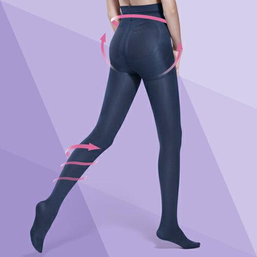 Bast 芭絲媞 纖柔極塑美腿襪-魅夜藍