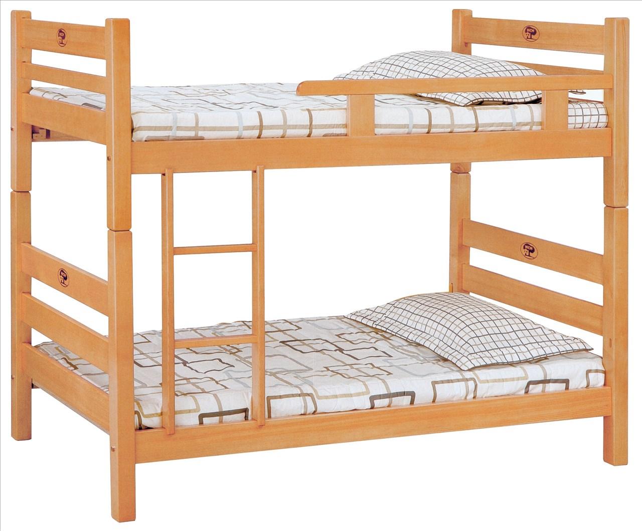 【石川家居】EF-114-1 貝克檜木色3尺單欄雙層床 (不含其他商品) 大需搭配車趟