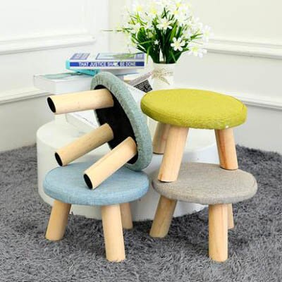 【小圓凳/小方凳-26*26*20cm-1款/組】棉麻櫸木矮凳實木凳沙發凳茶几凳拆洗設計-7201012