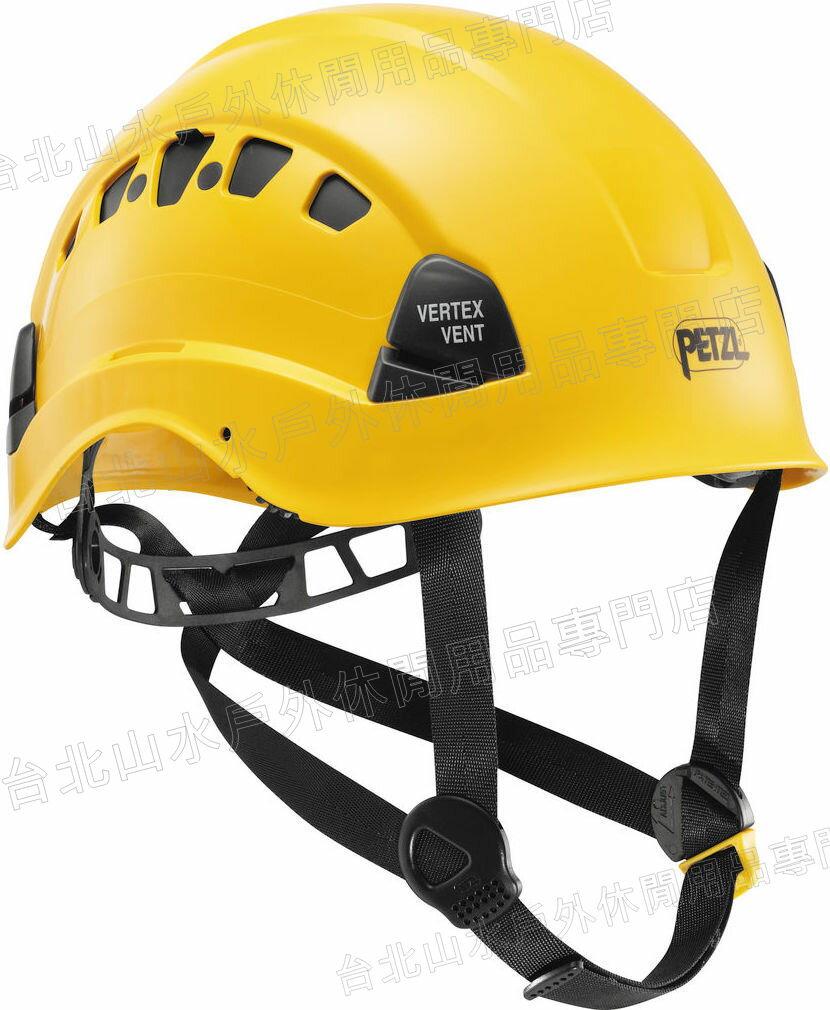 Petzl 透氣型工程安全頭盔/安全帽 A10VYA Vertex Vent 黃色