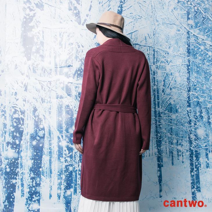 cantwo素色絲瓜領針織睡袍外套(共三色) 3