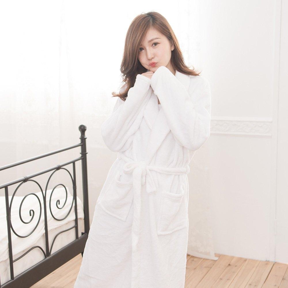 M / L / XL法蘭絨男女浴袍睡袍(經典紅 / 經典白 / 經典黑) 3