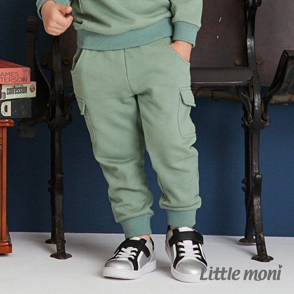 Little moni 口袋裝飾長褲-深綠(好窩生活節) 1