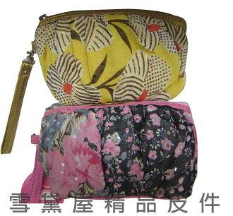 ~雪黛屋~sandia-polo 手拿化妝包分類包進口超輕透明紗+皮革材質萬用包WH-SA008