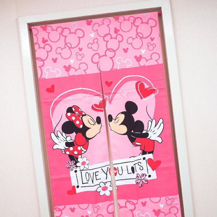 PGS7 迪士尼系列商品 - 米奇 Mickey 米妮 Minnie 米老鼠 親親 長型 門簾 簾子【SF2D71519】