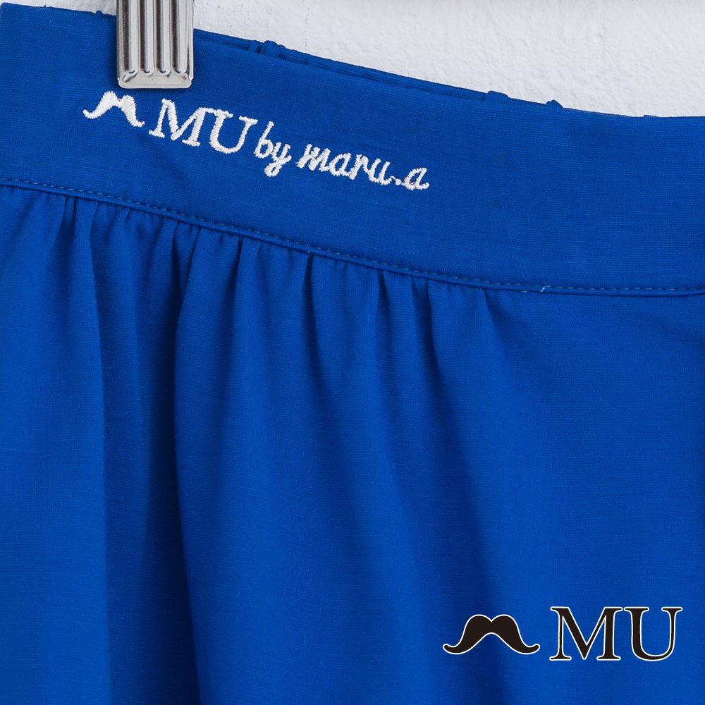【MU】腰部LOGO刺繡刺繡短寬褲  7325162 6