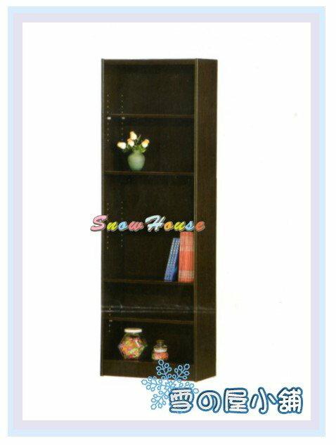 ╭☆雪之屋居家生活館☆╯AA553-06 F-07書櫃(黑胡桃)(美背式)/置物櫃/收納櫃/展示櫃/附活動隔板3片