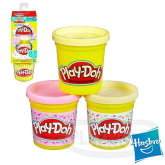 【Playwoods】[培樂多黏土PLAYDOH]補充罐-甜點系列 草莓冰淇淋、香草奶昔 冰淇淋(3罐裝-孩之寶)