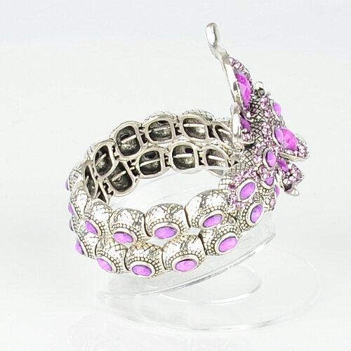 【Barocco Nuts】[手環]派對系列:紫晶古銀 節節彩蝶-環繞式手鐲 首飾/手飾(PARTY/Fashion/土耳其 民俗風)