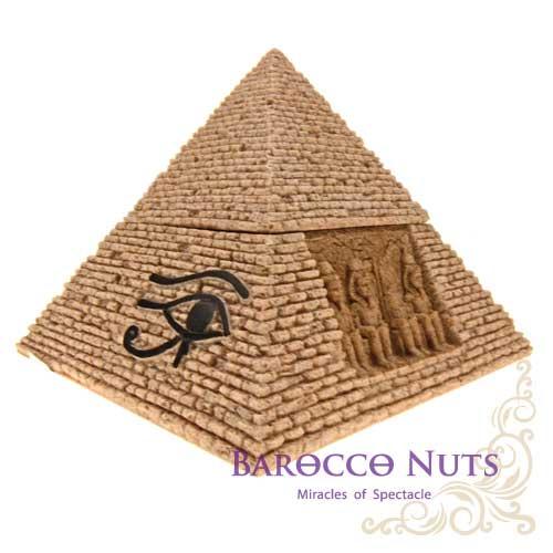 ~Barocco Nuts~^~特色擺飾^~ 沙雕工藝系列:6吋 埃及金字塔置物盒 ^(居