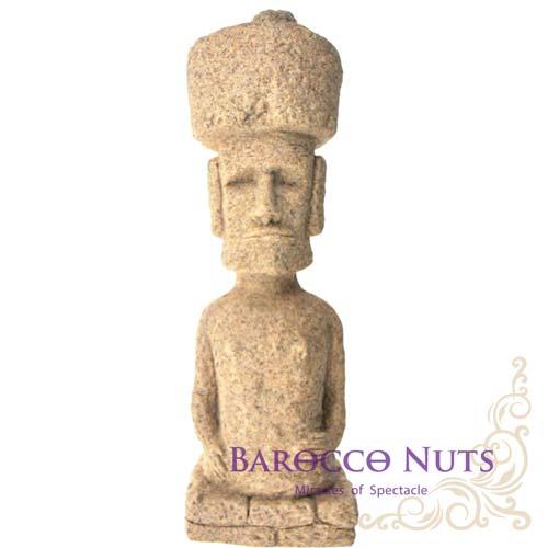 【Barocco Nuts】[沙雕工藝] 11吋 復活節島復活島巨石帽摩艾摩埃石像 (毛伊/古代遺跡/南太平洋文明/居家擺設/裝飾品)