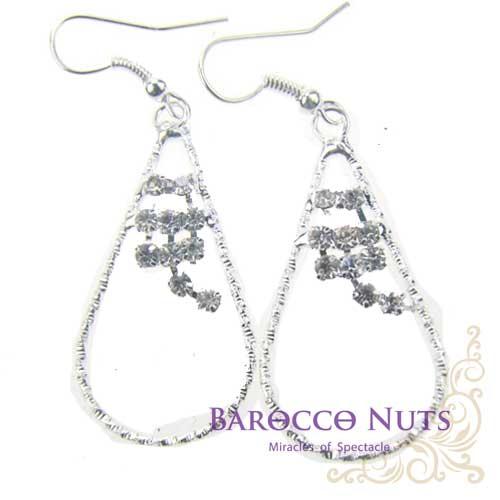 ~Barocco Nuts~    耳環系列:白銀水鑽芯拉環 耳環 首飾 耳飾 BLING