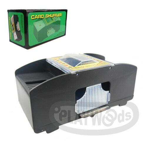 【Playwoods】[博弈益智Casino]POKER德州撲克/MTG:黑色基本版 電動自動洗牌機 Card Shuffle Machine (新年/過年/洗牌器/紙牌/TCG/撲克牌/遊戲)