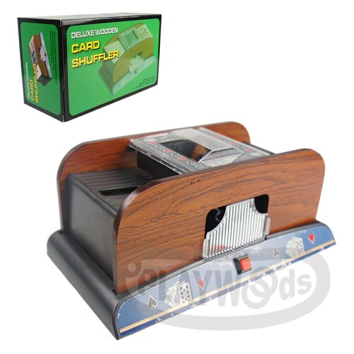 【Playwoods】[博弈益智Casino]POKER德州撲克/MTG:木質經典版 電動自動洗牌機 Card Shuffle Machine (木製/新年/過年/紙牌/TCG/撲克牌/遊戲/桌遊)