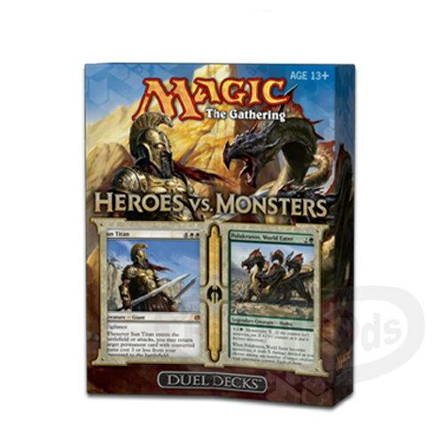【Playwoods】[MTG魔法風雲會]HVM英文版:英雄vs怪物 對戰套牌禮盒 Duel Decks: Heroes vs. Monsters(萬智牌/桌游)