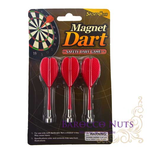 【Barocco Nuts】[Party派對遊戲]紅心射靶-磁性 安全飛鏢靶:紅色旗-強力 磁鐵飛鏢 磁力 旗桿飛標-補充包(1包3隻)
