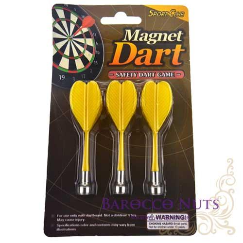 【Barocco Nuts】[Party派對遊戲]紅心射靶-磁性 安全飛鏢靶:黃色旗-強力 磁鐵飛鏢 磁力 旗桿飛標-補充包(1包3隻)