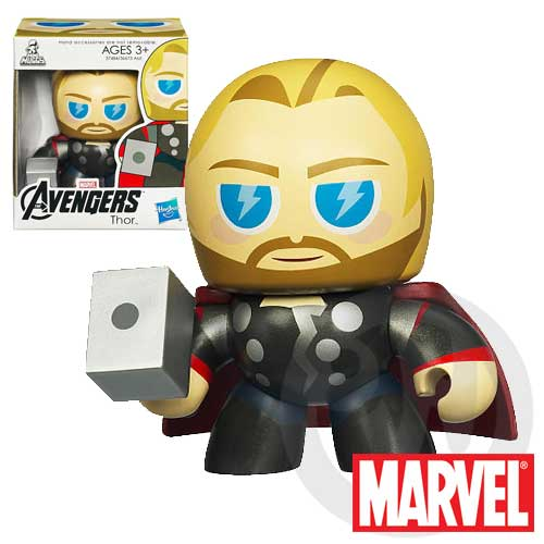 【Playwoods】[復仇者聯盟Avengers]Mini Muggs-酷版 雷神索爾Thor迷你 公仔(現貨-驚奇英雄Marvel超人/鋼鐵人3/Iron Man3)