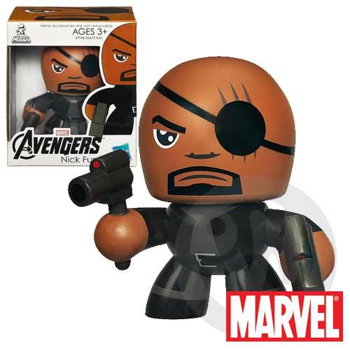 【Playwoods】[復仇者聯盟Avengers]Mini Muggs-酷版 神盾局 局長S.H.I.E.L.D迷你公仔(現貨-驚奇英雄Marvel超人/鋼鐵人3/Iron Man3)