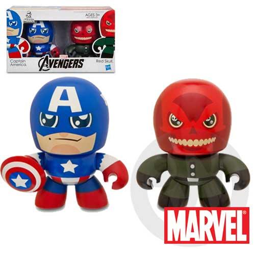 【Playwoods】[復仇者聯盟Avengers]Mini Muggs: 美國隊長Captain America & 紅骷髏Red Skull迷你 雙人組 公仔模型王(驚奇英雄Marvel超人/鋼鐵人3/Iron Man3)