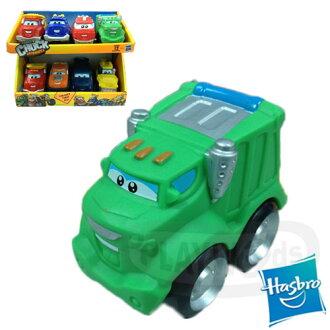 【Playwoods】[CHUCK&FRIENDS]ㄉㄨㄞㄉㄨㄞ小汽車:單組-羅迪Rowdy-垃圾車Garbage Trcuk(孩之寶HASBRO)