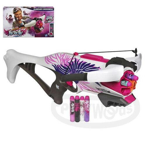 【Playwoods】[NERF樂活打擊]Rebelle系列 : 守護天使十字弓Guardian Crossbow(蕊貝兒/射擊/飢餓遊戲/玩具/女生/安全泡棉/孩之寶Hasbro)(預購)