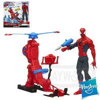 漫威英雄Marvel 周邊商品推薦【Playwoods】[漫威終極蜘蛛人]動畫系列:12吋直升機人物組Spider-Man with Web Copter(Ultimate Spider Man/終極蜘蛛俠/Marvel超人/電視影集/公仔/驚奇再起)