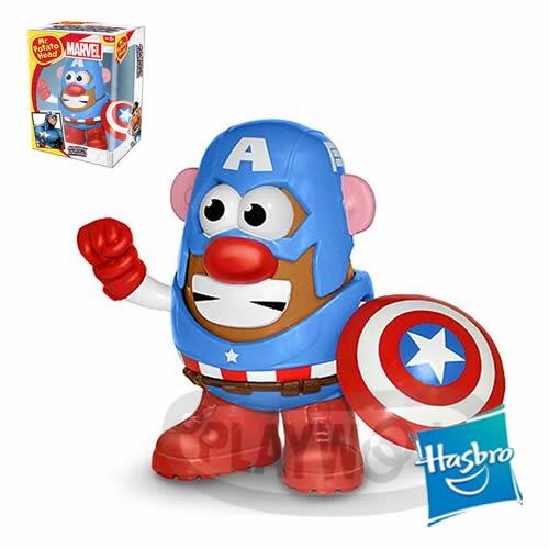 【Playwoods】[兒樂寶PLAYSKOOL] PPW蛋頭組:美國隊長 Mr. Potato Head - Captain America (Marvel復仇者聯盟/孩之寶Hasbro/超級英雄/..