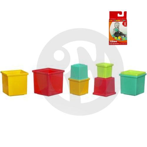 【Playwoods】[孩之寶-PLAYSKOOL-兒樂寶] 新益智連環罐(方形) Stack & Nest Cubes