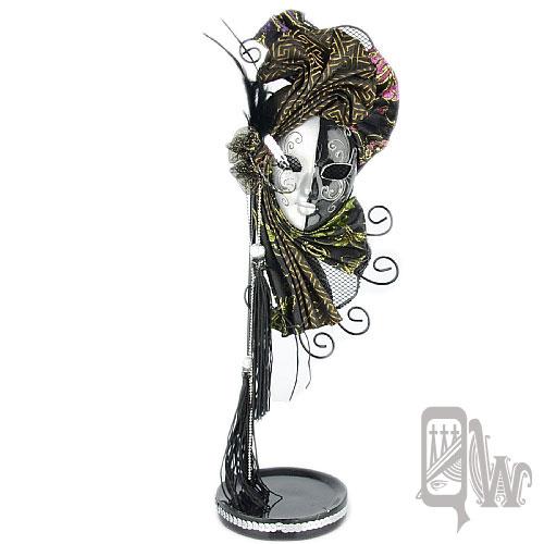 【Barocco Nuts】[飾品架]歌劇魅影 面具-雙色 黑銀 舞伶(首飾架/戒指架/項鍊架/耳環架/飾品架/吊飾架/手環架)