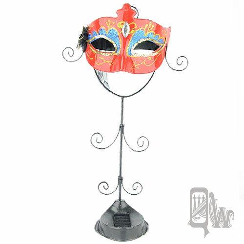 【Barocco Nuts】[飾品架]歌劇魅影-面具系列:紅鶴喜氣 火焰紅-薄紗鑽(首飾架/戒指架/項鍊架/耳環架/飾品架/吊飾架/手環架)