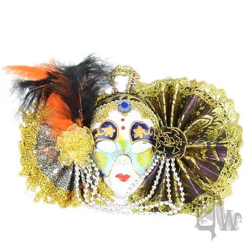 【Barocco Nuts】[面具]派對系列:對稱銀紫扇 小面具飾品 彩繪異想風(舞會/嘉年華/歌劇魅影/party/化裝舞會/化妝舞會)