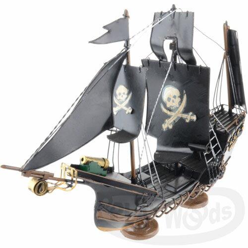 【Barocco Nuts】[懷舊古玩]載具:復古 金屬製 深色 海盜船Pirate Ship(帆船 One-Piece 神鬼奇航 幽靈船 虎克船長)