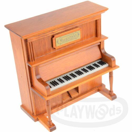 【Playwoods】[音樂盒Music Box] 直立式 原木色 鋼琴 八音盒 演奏 琴鍵 (媽媽/母親節/禮物/送禮/創意)