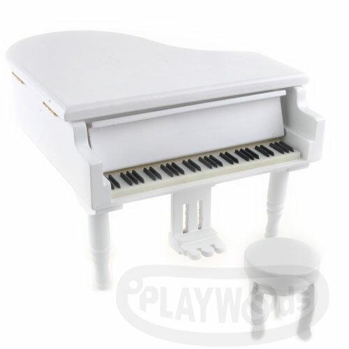 ~Barocco Nuts~ 音樂盒Music Box  三角平台 白色 金色踏板 木製古