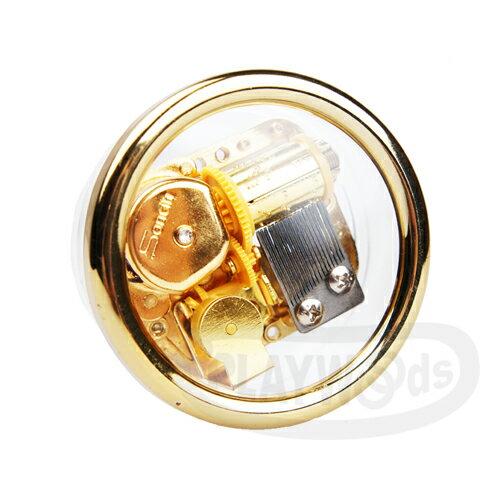 【Barocco Nuts】[音樂盒Music Box] 水晶透明 鍍金圓環精緻小盒 八音盒  典雅機芯  (聖誕節/X'mas/禮物/送禮/生日禮物/情人節/七夕女友/婚禮/創意)
