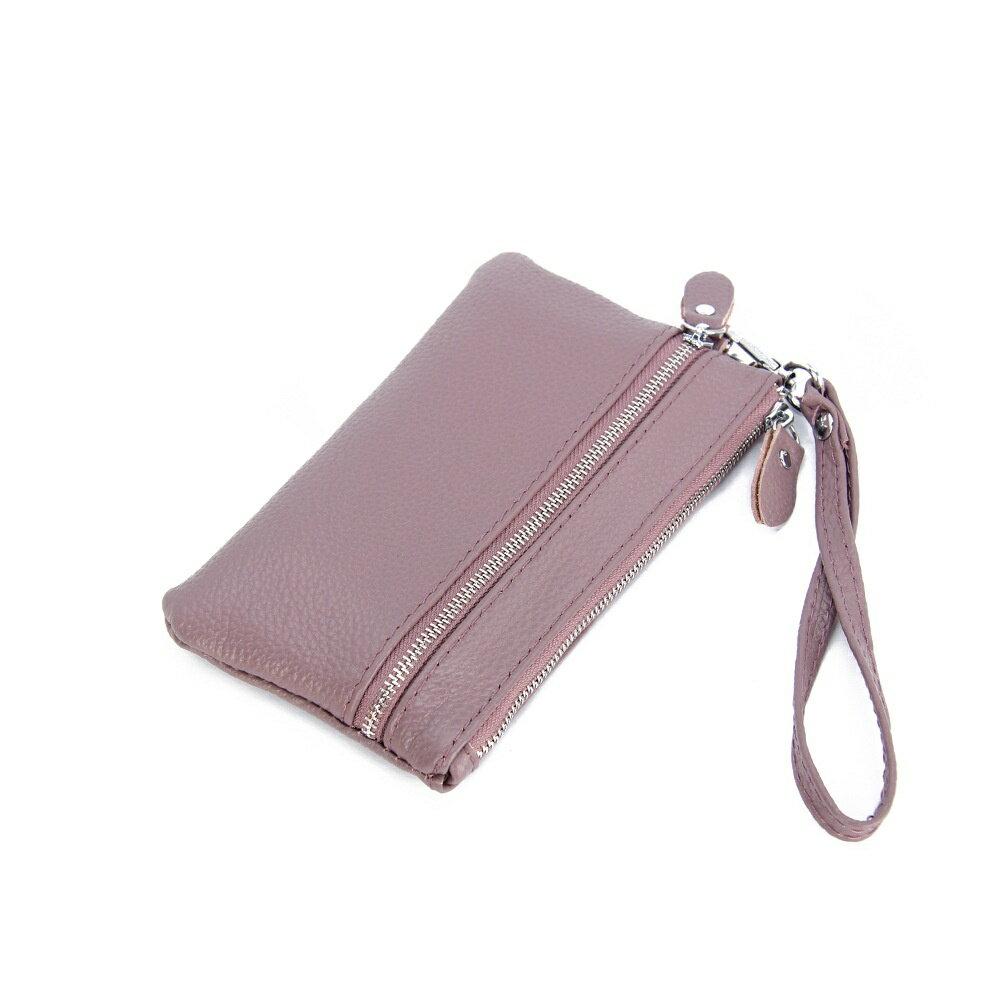 手拿包真皮錢包-純色荔枝紋牛皮雙拉鍊女包包5色73wz33【獨家進口】【米蘭精品】 1