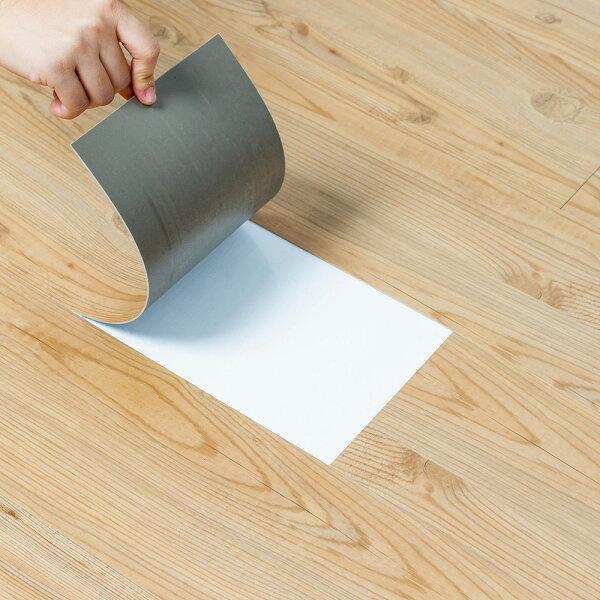 防水材質地板貼木紋地貼PVC地板貼紙-12片阻燃防水耐磨地貼約0.5坪