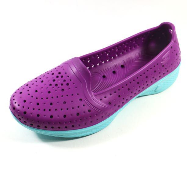 [陽光樂活] SKECHERS (女) 健走系列 H2GO 透氣洞洞鞋 - 14690PRLB 亮紫/水藍