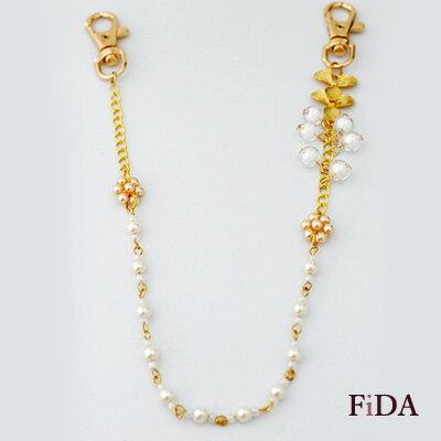 串珠手作設計 幸運三葉草 牛仔褲包包配件吊飾 西西里島的春光 -FiDA