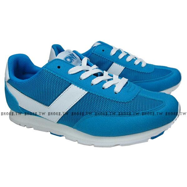 《限時特價799元》 Shoestw【62W1SO63BL】PONY復古慢跑鞋 水藍白V 女款 0