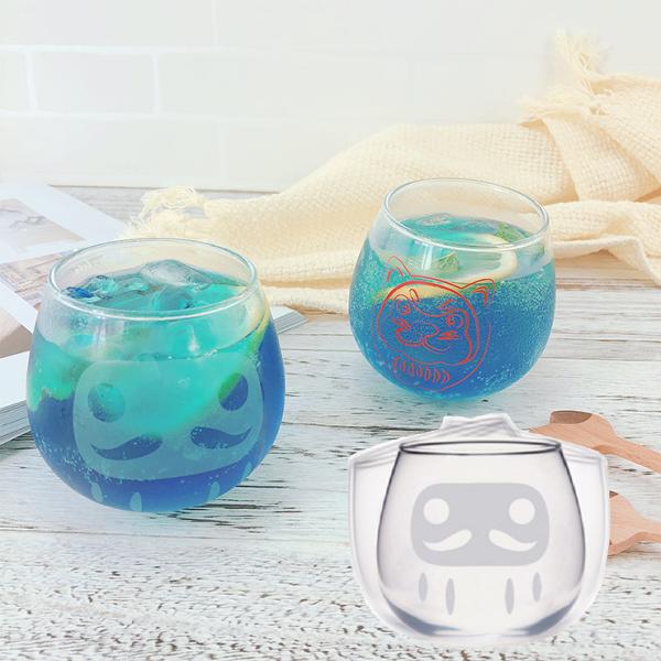 |現貨|日本空運|日本達摩不倒翁玻璃杯限量達摩犬杯|日本製|2款|免運|日本限量福神搖擺杯玻璃杯具禮盒裝