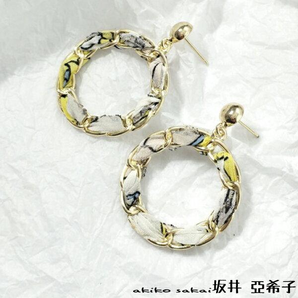 『坂井.亞希子』金屬環繞氣質明星款耳環