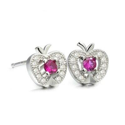 ~925純銀耳環鑲鑽耳飾~極光炫彩繽紛耀眼生日情人節 女飾品2色73dm33~ ~~米蘭