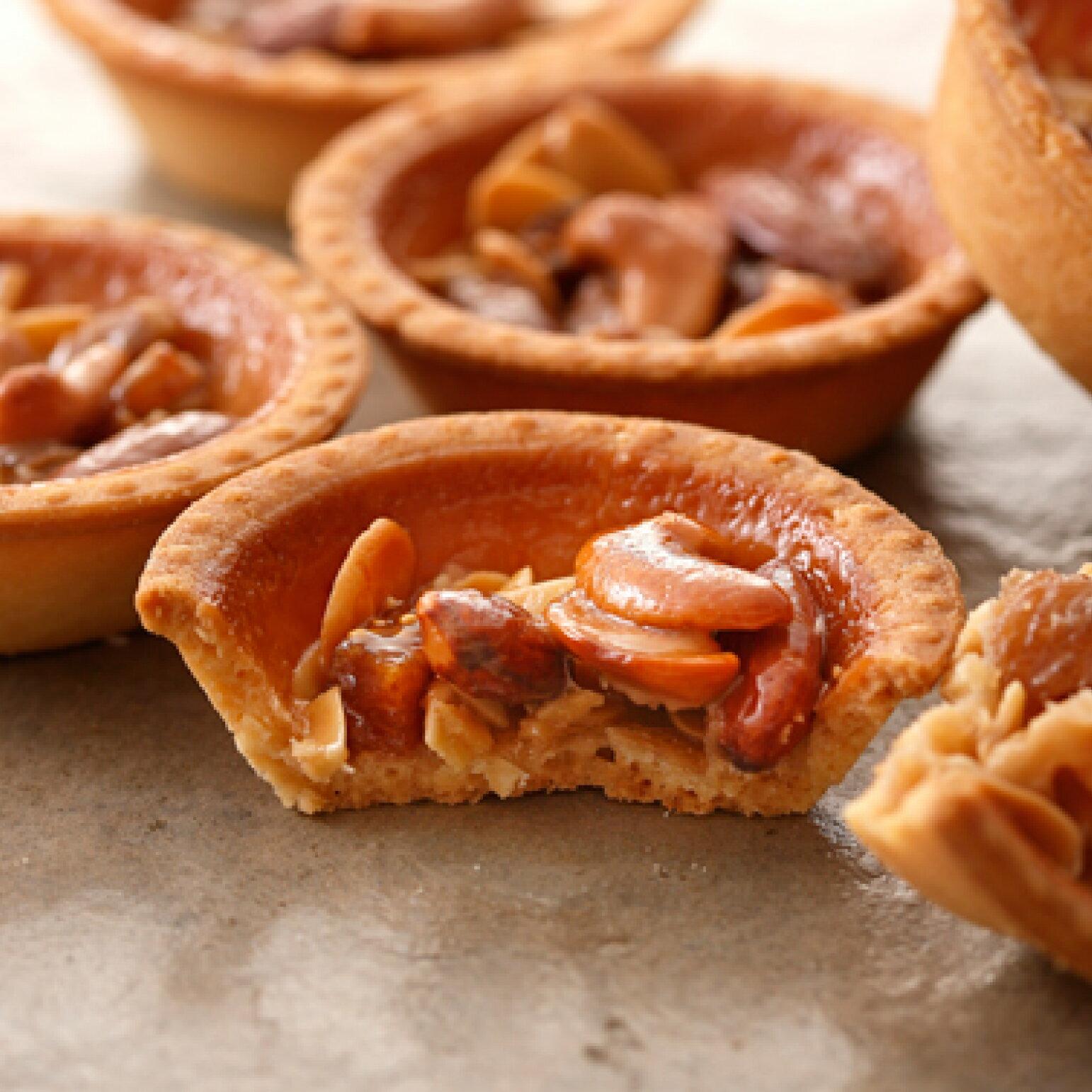 【安普蕾修Sweets】焦糖堅果塔 (10入/盒) |燒菓子系列|法式手工甜點|團購甜點下午茶|