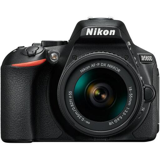 Nikon D5600 24.2MP DX-Format Digital SLR Camera w/ AF-P 18-55mm f/3.5-5.6G VR Lens Kit